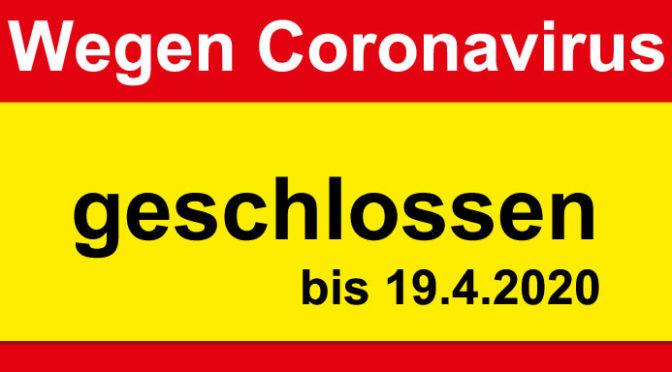 13. März: FabLab wegen Coronavirus bis 19. April geschlossen!