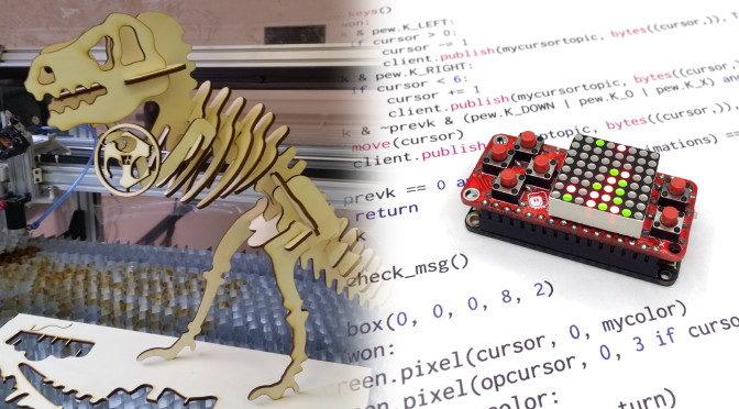 Es gibt wieder Kurse: Lasercutter und MicroPython