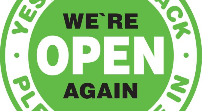 Wir haben offen! Normale Öffnungszeiten. (max. 15 Personen mit Maskenpflicht)
