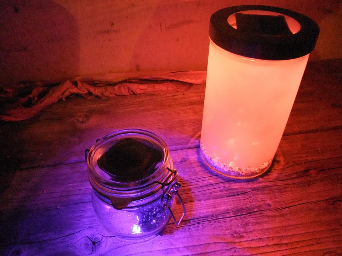 Solar Gartenlaternen im dunkeln